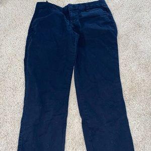 Navy capris pants